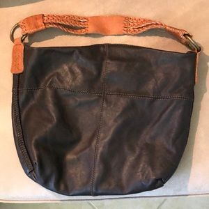 Lucky Brand leather brown pocketbook-shoulder bag